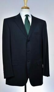 Brioni-Mens-039-Chigi-039-3-BTN-Black-Superfine-Wool-Suit-Size-44-L-US-NEW-6800