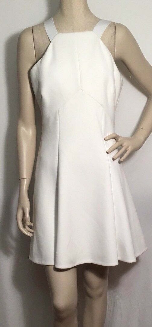 Nuevo con etiquetas  Cushnie et Ochs Neopreno blancoo Vestido sin mangas FLARE Talla 10 precio minorista sugerido por el fabricante  1495  moda