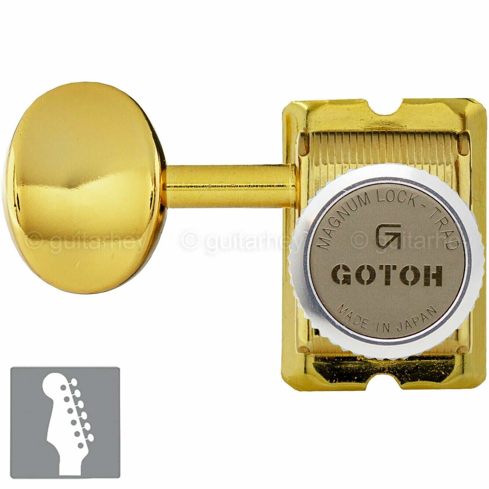 NEW Gotoh SD91-05M MGT Locking Tuners Set 6 in line STAGGErot LEFT-HANDED - Gold