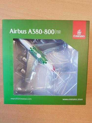 "Herpa 533522-1//500 Emirates Airbus A380 Expo 2020 Dubai /""Sustainability/"""