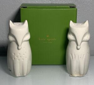 Kate Spade Cannon Street Woodland Speckled Fox Shaped Salt Pepper Shakers Lenox 882864797957 Ebay