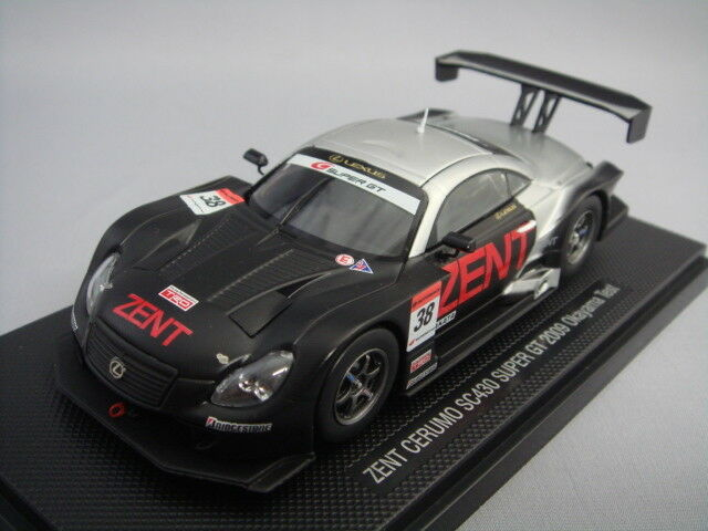 Ebbro 1 43 LEXUS Zento CERUMO SC430 Super GT500 2009  38 Okayama Test Voiture