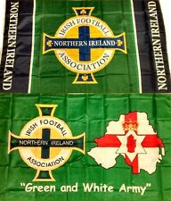 "New Northern Ireland Football Flag + ""GAWA FLEGG!"" Norn Iron Flags"