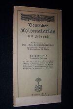 1918 Deutscher Kolonialatlas mit Jahrbuch original BERLIN Reimer