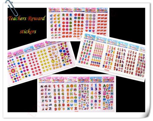 New Scrapbooking/&Paper kids crafts favors Stickers lot-Teachers Reward stickers