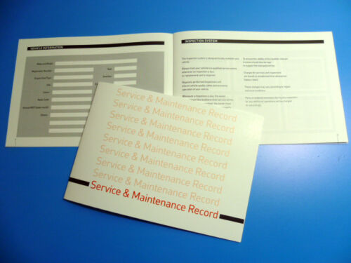 SMART SERVICE BOOK NUOVO unstamped storia di record di manutenzione-SPEDIZIONE GRATUITA