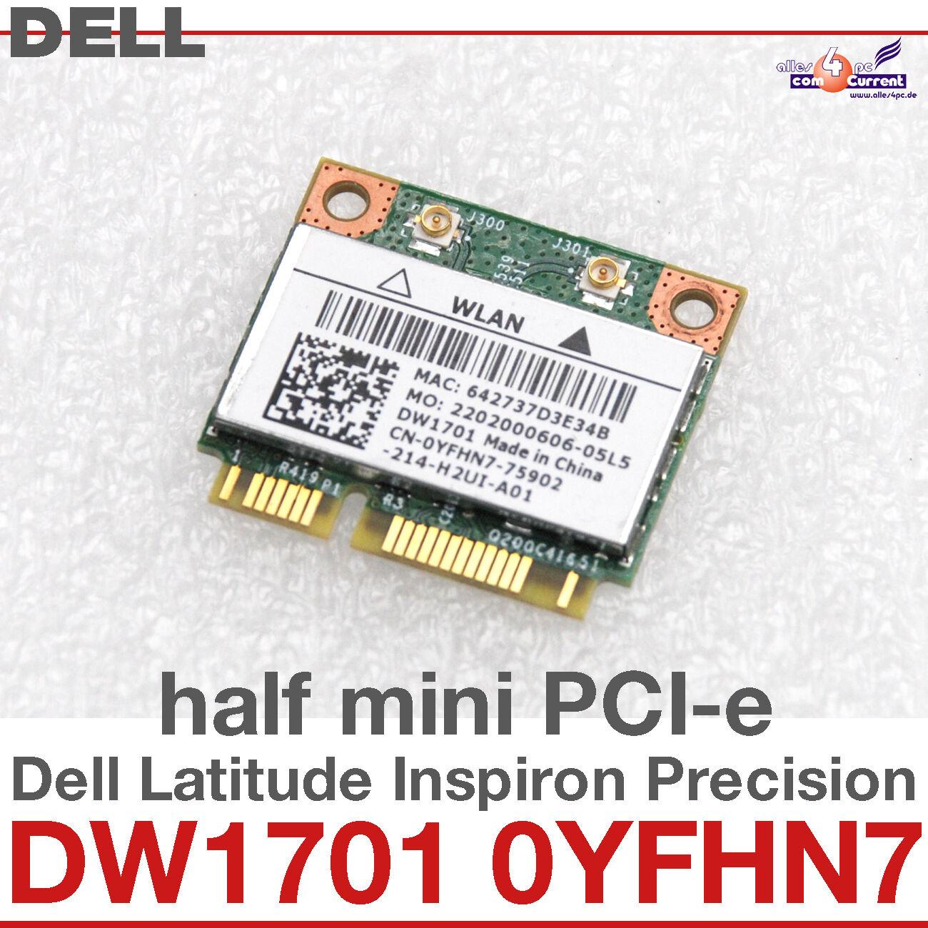 wi-Fi WLAN Wireless Card Network Card For Dell Mini Pci-E DW1701 0YFHN7 #D11