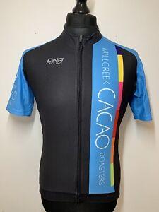 DNA Cycling Millcreek Cacao Chocolate Roasters Jersey Retro Bike Shirt XL VGC