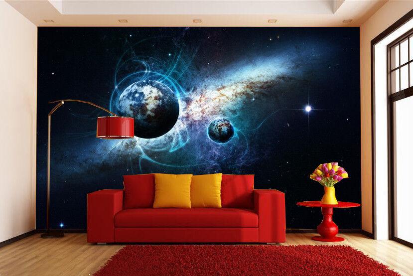 3D Starlight Earth 75 Wall Paper Murals Wall Print Wall Wallpaper Mural AU Lemon