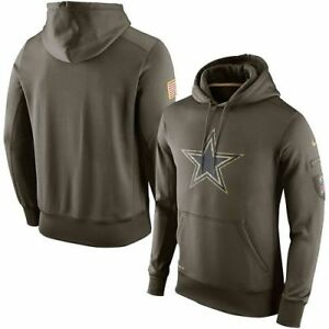0227c174f Dallas Cowboys NFL Camo Men s Nike 2015 Salute to Service Hoodie ...