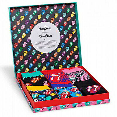 Happy Socks x The Rolling Stones Unisex Limited Edition LP Gift Box Set 6 Pa...