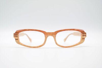 Cecile Vintage 201-1 50 [] 18 140 Arancione Ovale Occhiali Eyeglasses Nos-