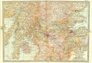 Details about SCOTLAND CENTRAL  Lanark Peebles Stirling Perth Argyll Ayr  Fife 1903 old map