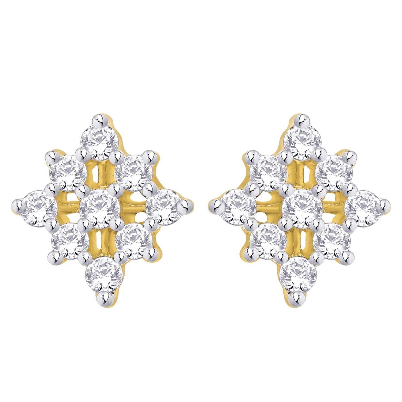 0.90ct NATURAL ROUND DIAMOND 14k gold WEDDING ENGAGEMENT STUD EARRING