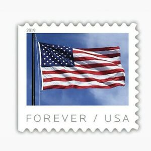 USPS New US Flag (2019) Coil of 100