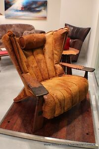 Pleasant Details About 41 W Club Chair Bronze Leather Italian Distressed Solid Exotic Wood Available Camellatalisay Diy Chair Ideas Camellatalisaycom