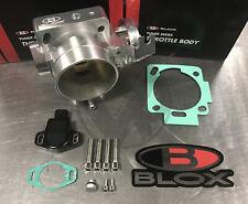 Blox 70mm Dual Pattern Silver Billet Throttle Body With Tps For Honda K20 K24