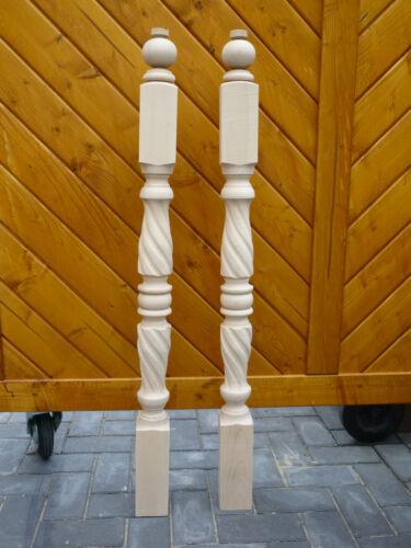Gedrechselte Holzpfosten Treppenpfosten Geländerpfosten massiv Buche Holzstäbe