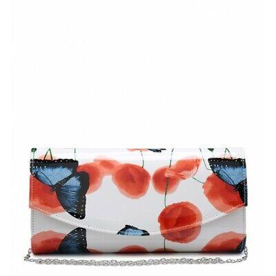 Cerca Voli Large White & Orange Sera Matrimonio Clutch Bag Con Farfalla & Poppy Floreale-mostra Il Titolo Originale Né Troppo Duro Né Troppo Morbido
