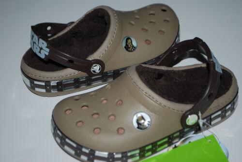 NWT CROCS KIDS STAR WARS CHEWBACCA LINED CLOGS KHAKI brown 8//9 10//11 12//13 shoes