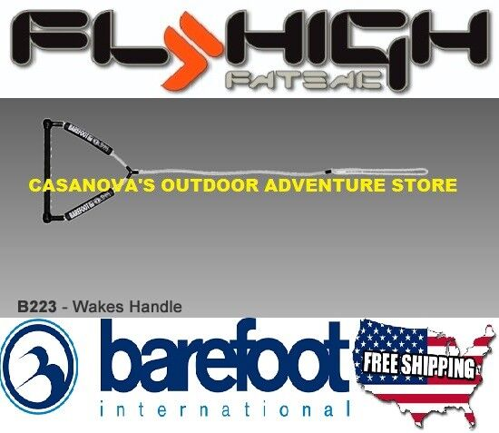 BAREFOOT INTERNATIONAL FLY HIGH WAKES WAKEBOARD WATERSKI 15  HANDLE B223, NEW