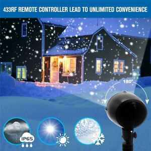 Christmas Projection Lights.Details About Christmas Projection Light Decor Led Snowing Xmas Rotating Snowflake Effect Lamp