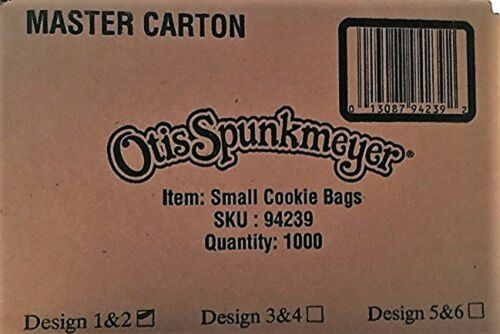 Otis Spunkmeyer Box of 1,000 Paper Cookie Bags