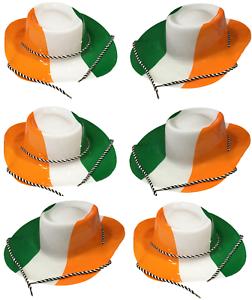 6 x Irish St Patricks Day Flag Colours Cowboy Cowgirl Fancy Dress ... 7a3dd2c036e4