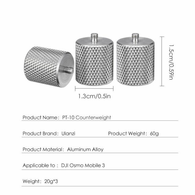 Gimbal Stabilizer Balance Weight for DJI Osmo Mobile 2 Zhiyun Smooth 4 Q S7C2