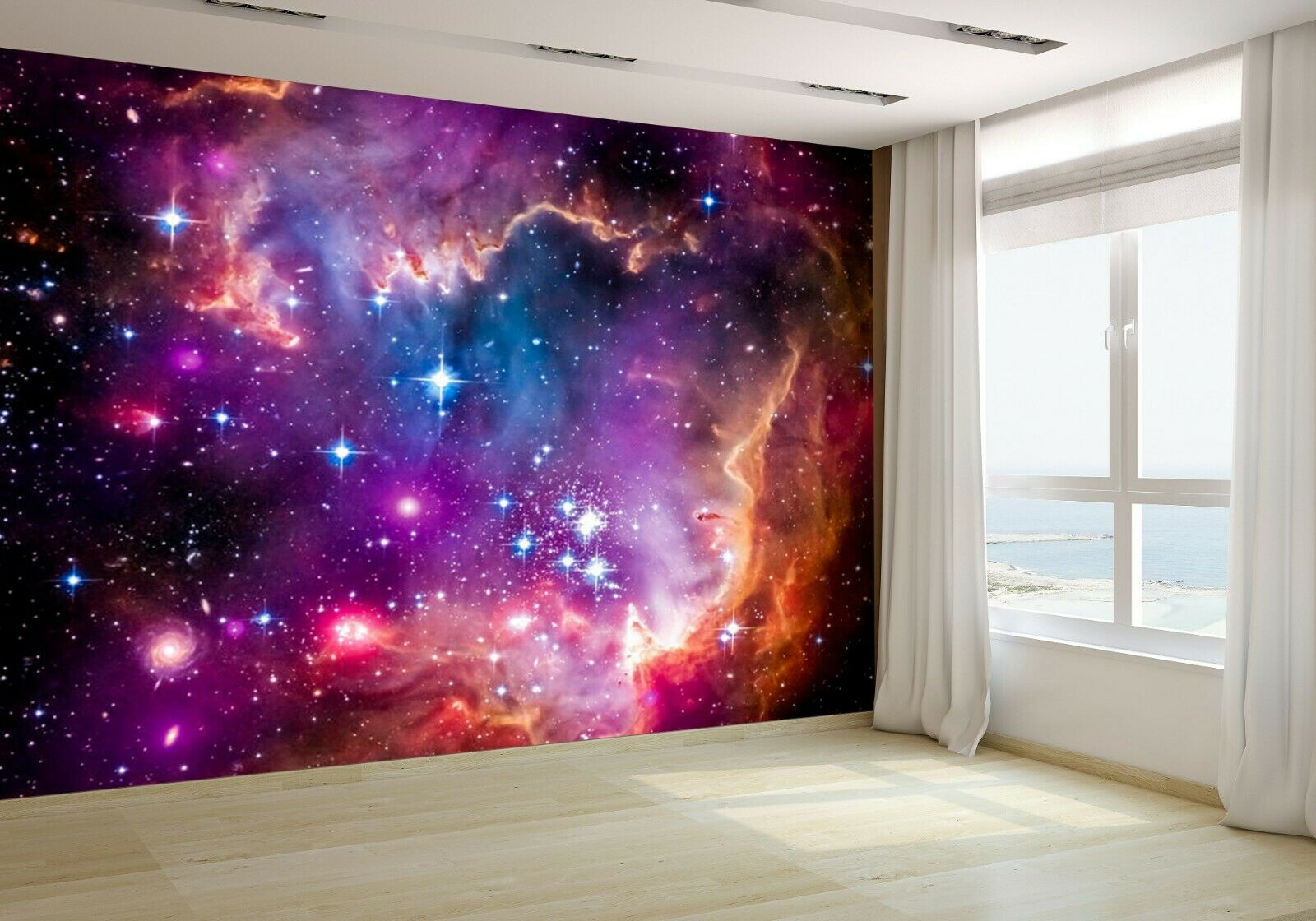 Galaxy and a Galactic Neighbor Wallpaper Mural Photo 27549273 premium paper