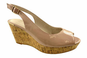LADIES-NEXT-FAUX-SUEDE-LEATHER-LINED-COMFORT-PEEP-TOE-WEDGE-SANDALS-NUDE-UK-3-9