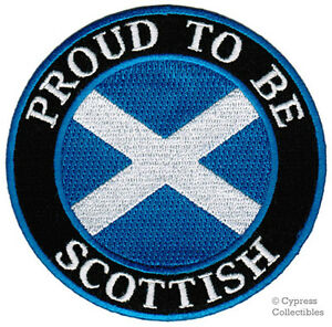 PROUD-TO-BE-SCOTTISH-embroidered-iron-on-PATCH-SCOTLAND-FLAG-ST-ANDREW-SALTIRE
