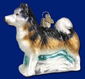 ALASKAN MALAMUTE DOG CANINE OLD WORLD CHRISTMAS GLASS ...