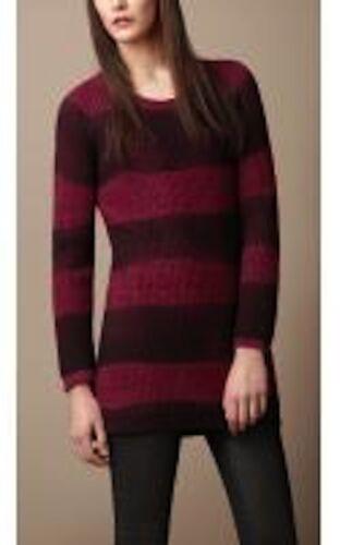 Silk Womens Burberry Sweater Small Striped Spray Uld 650 Nwt Cashmere 0ZFwqF