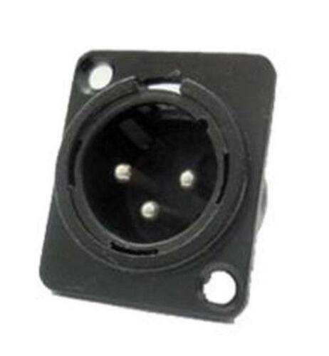 2 Brand NEW ProCraft PXLRMP-B Panel Chassis Mount Male XLR Connector Black Metal