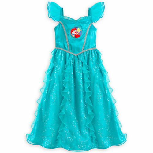 Deluxe~ARIEL~FOIL Silver Bubbles~Night Gown~LITTLE MERMAID~NWT~Disney Store
