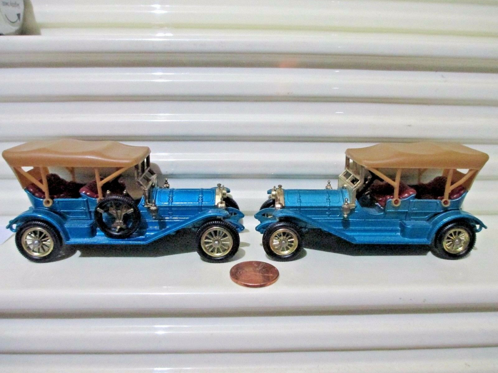 Matchbox Model of Yesteryear  Y12B bluee 1909 THOMAS FLYABOUT Small 11.5mm Wheels