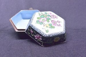Vintage-Six-sided-Lidded-Chinese-Cloisonne-Ring-Box