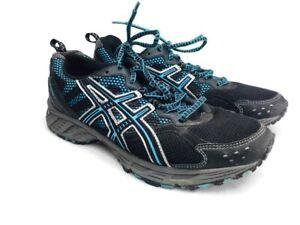 Details zu Asics Gel Enduro 7 Men's Trail Running Shoes Black Blue Silver US 10 Euc