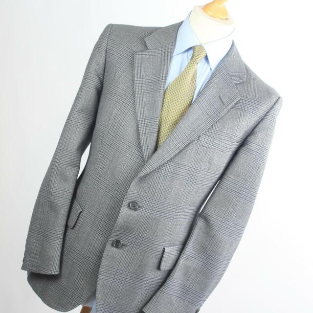 Mens Grey Suit Jacket 44 Regular Austin Reed Wool Check For Sale Online
