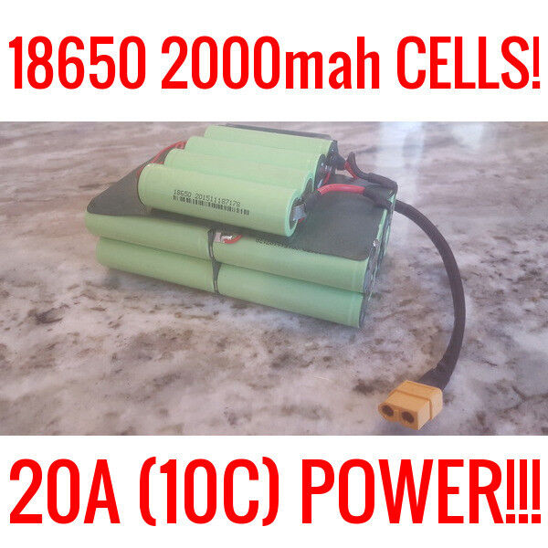 10 SONA 18650 36V 4.0ah 20A BATTERY EBIKE VAPE POWERWALL BATTERIES 200 CELLS BMS