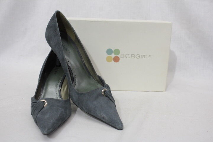 BCBGIRLS Gray Suede Pointed Toe Womens