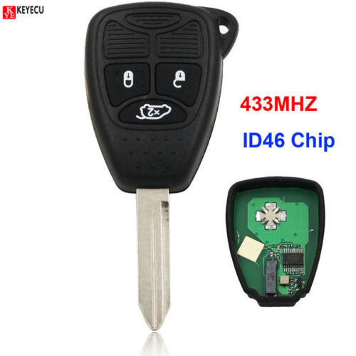 3 Button Remote Key Smart Car Key Fob 433MHZ for Chrysler 300C C300 PT Cruiser