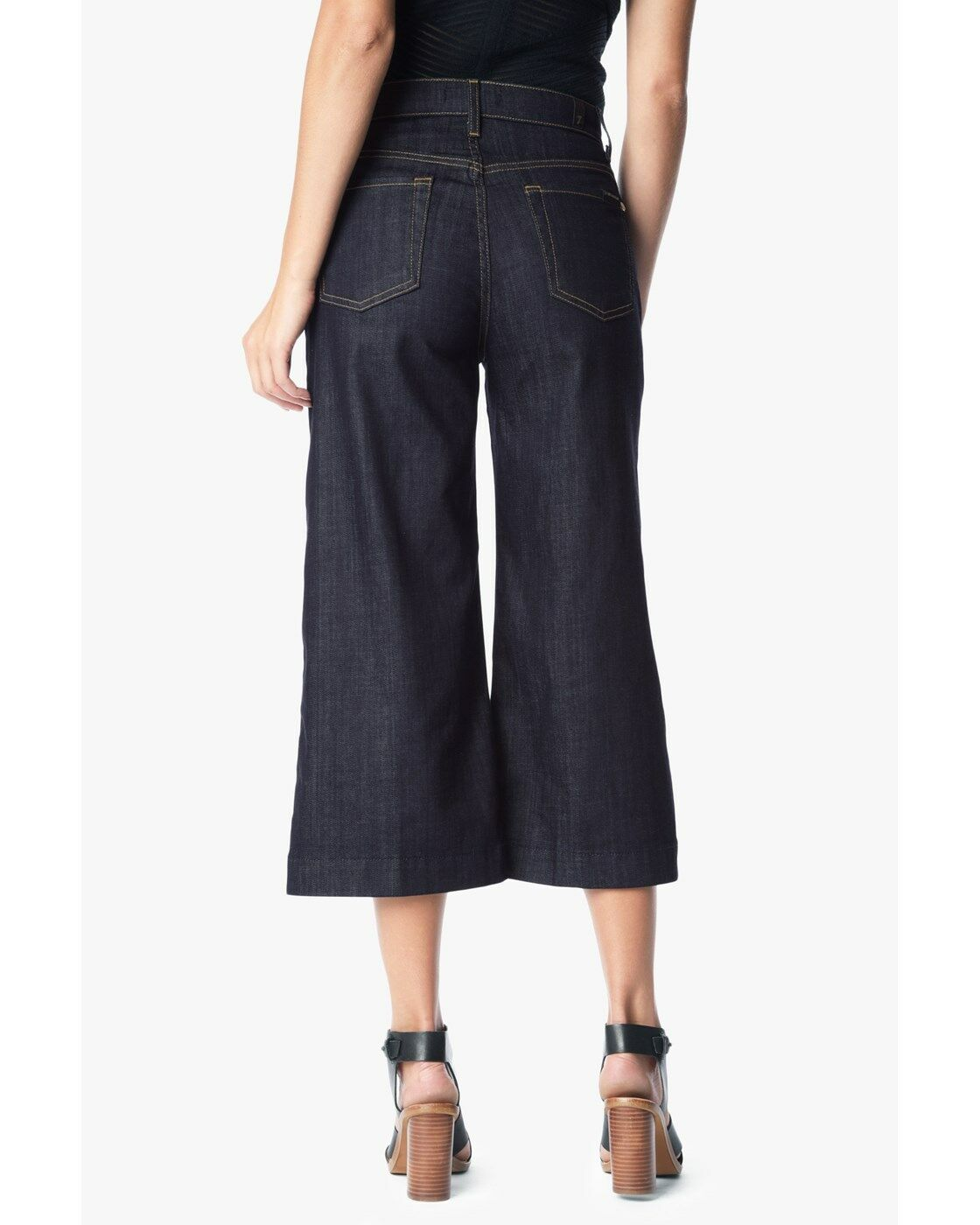 Nordstrom  Tag Fan all 7 mankind CULOTTE IN PURE RINSE WOMENS JEANS SIZE 25