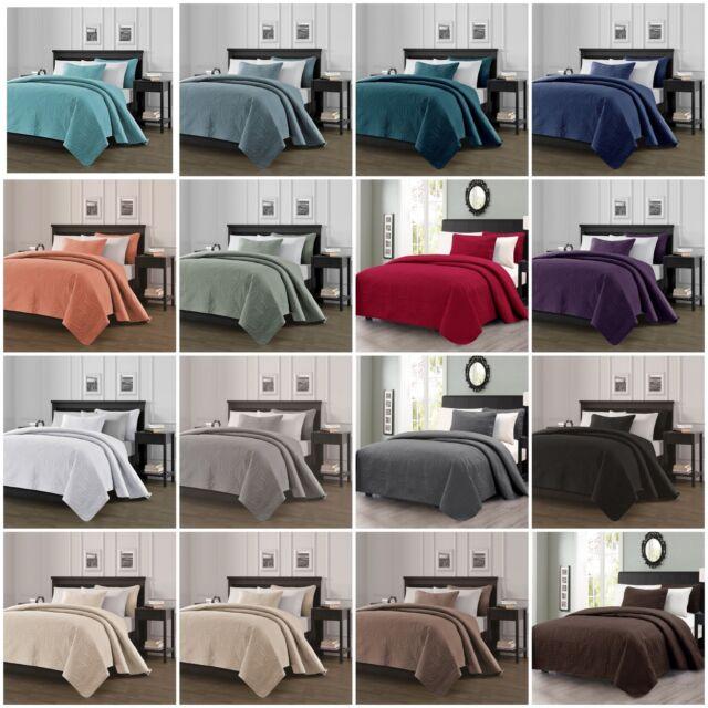 Linen Market Ultra Soft Hypoallergenic Quilted 3 Piece Coverlet Set 3 Designs