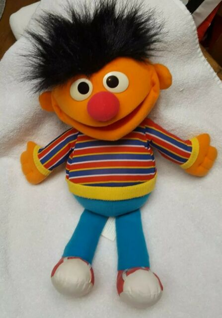 VTG Ernie Sesame Street Hand Puppet 1986 | Full Body | Playskool Muppets Hasbro