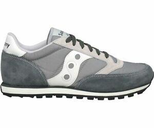 Saucony-S2866-248-Men-039-s-Jazz-Low-Pro-Sneakers-Grey-White-US-7