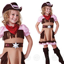 COWGIRL CUTIE GIRLS FANCY DRESS COSTUME CHILDS WILD WEST KIDS NEW WESTERN 4 7 10  sc 1 st  eBay & Bristol Novelty CC493 Cowgirl Cutie Costume Medium 122 - 134 Cm | eBay