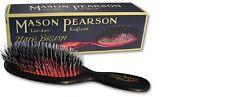 Mason Pearson Cerdas de tamaño de bolsillo BN4 & Cepillo de Nylon – Oscuro Rubí