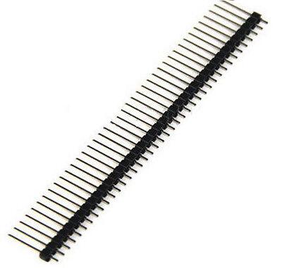10PCS 1x 40 Pin 2.54 mm Single Row Pin Header Strip PCB 17mm